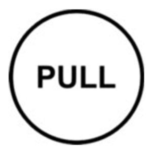 "Klebeschild ""Pull"""