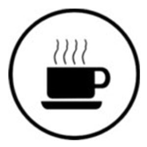 """Klebeschild """"Kaffee"""""""