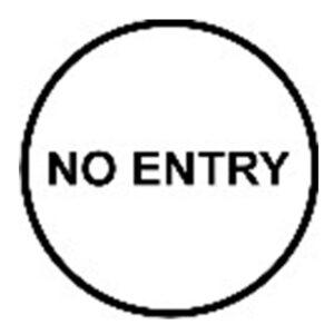 """Klebeschild """"No Entry"""""""