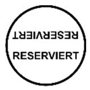 """Klebeschild """"Reserviert"""""""